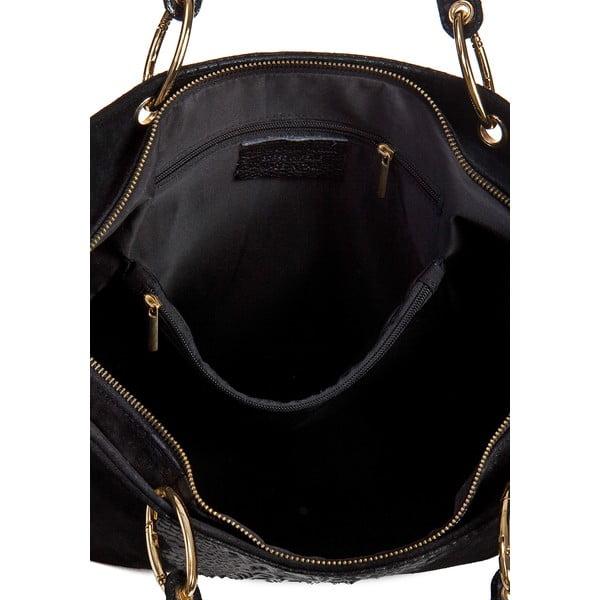 Černá kožená kabelka Massimo Castelli Barnaba