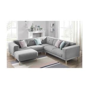 Canapea cu suport pentru picioare Bobochic Paris Luna, gri