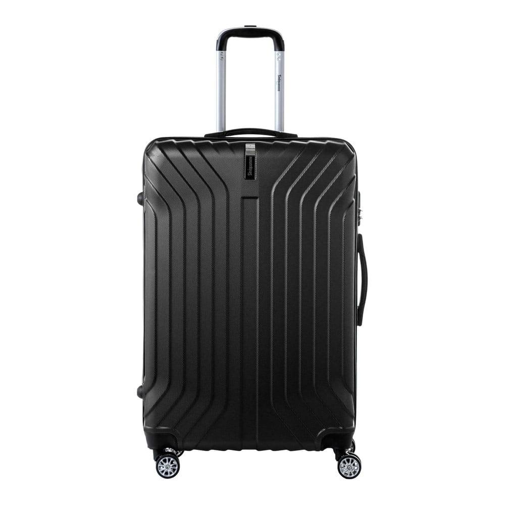 Černý cestovní kufr na kolečkách SINEQUANONE Tina, 107 l