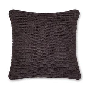 Tmavě hnědý pletený povlak na polštář Catherine Lansfield Knit, 45x45cm