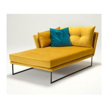 Șezlong Relax, cotieră pe partea stângă, galben