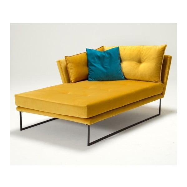 Żółty szezlong lewostronny Relax