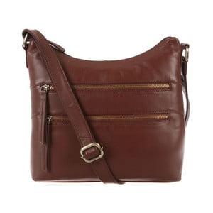 Dámská kožená taška Valentina Whiskey Small Hobo