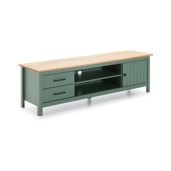 Masă TV din lemn Marckeric Miranda, verde imagine