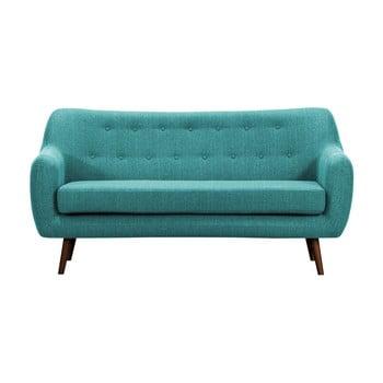 Canapea cu 3 locuri și picioare închise la culoare Vivonita Lila, turcoaz de la Vivonita