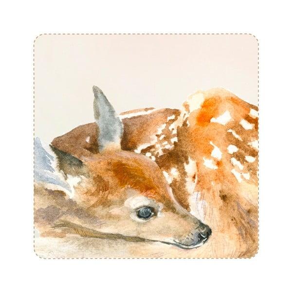 Znovu snímatelná samolepka Sleeping Deer, 40x24 cm