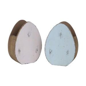 Sada 2 stojánků ve tvaru vajíčka Ego Dekor, 10,5 x 14,5 cm