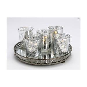 Set 5 kalíšků na svíčku s tácem Round
