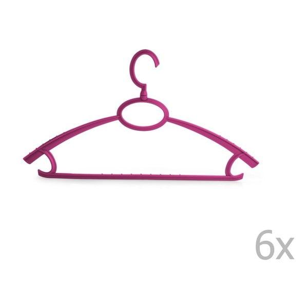 Plastový věšák Bonita UNO Purple, 6ks
