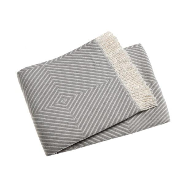 Jasnoszary koc z domieszką bawełny Euromant Tebas, 140x180cm