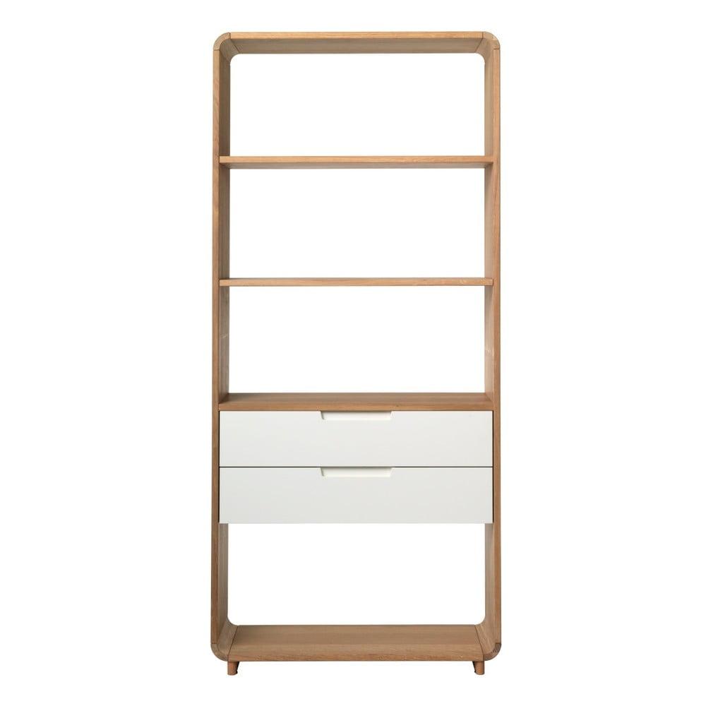 Otevřená knihovna ze dřeva bílého dubu Unique Furniture Amalfi Unique Furniture