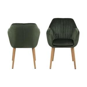 Zelená jídelní židle Actona Emilia