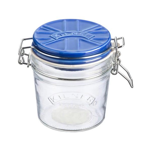 Zavařovací sklenice s modrým keramickým klipovým víčkem Kilner England, 0,35 l
