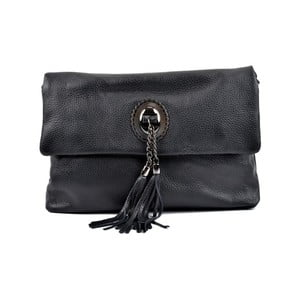 Černá kožená kabelka crossbody RobertaM Elisa