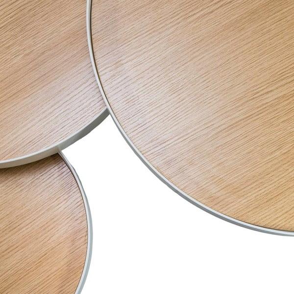 Trojitý odkládací stolek Triplex Natural