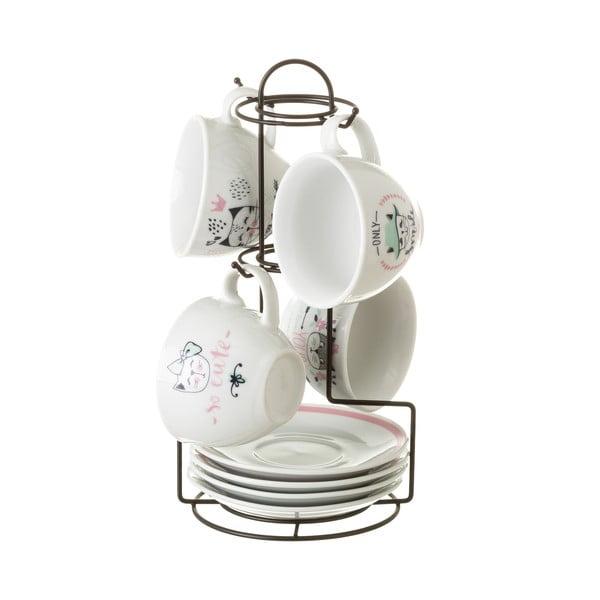 Boho 4 darabos porcelán csészekészet, 160 ml - Unimasa