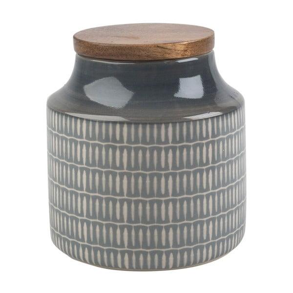 Šedá keramická dóza s víčkem Creative Tops, 450 ml