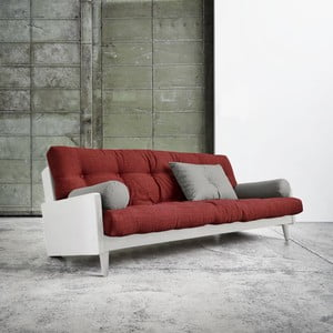 Canapea extensibilă Karup Indie White/Passion Red/Granite Grey