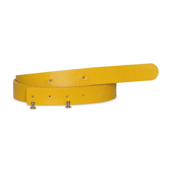 Žlutý dámský kožený pásek Woox Bini Lutea, délka 92 cm