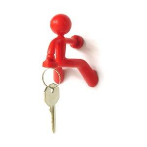 Magnetický držák klíčů Key Pete, červený