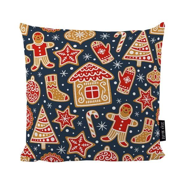 Poduszka ze świątecznym motywem Butter Kings Mr. Gingerbread, 50x50
