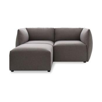 Canapea cu două locuri și șezlong Vivonita Cube, gri de la Vivonita