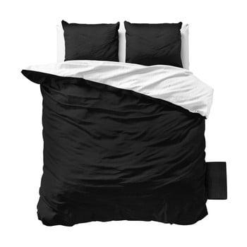 Lenjerie de pat din micropercal Zensation Twin Face, 240 x 220 cm, negru – alb de la Zensation