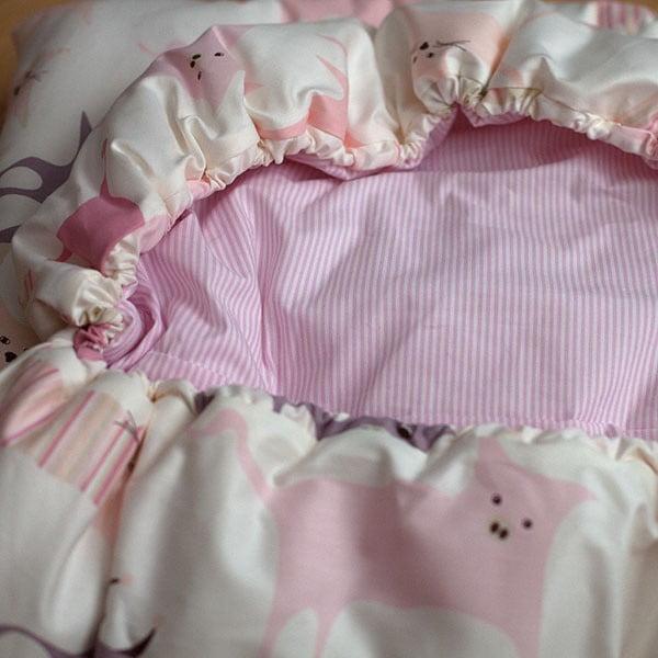 Dětský spací pytel Bartex Design Růžová zvířátka, 70x200cm