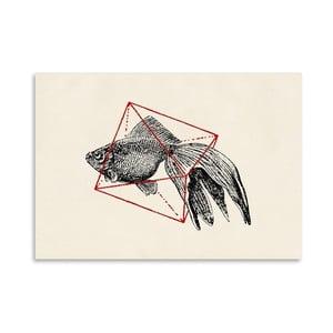 Plakát Fish In Geometrics 3 od Florenta Bodart, 30x42 cm