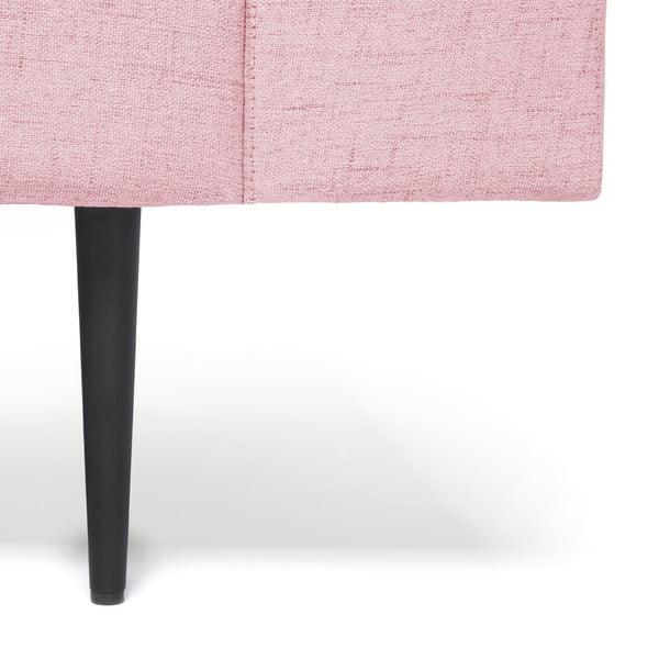 Pudrově růžová 3místná sedačka Vivonita Skolm