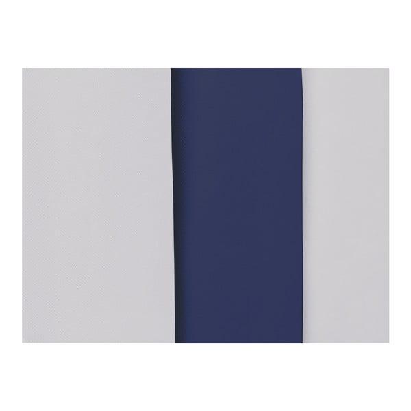 Šedo-modré čelo postele Mazzini Sofas Dahlia, 120 x 140 cm