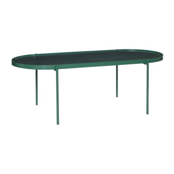 Zielony stół ze szklanym blatem Hübsch Table, dł. 120 cm