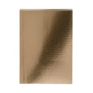 Zápisník ve zlaté barvě A5 GO Stationery Glam