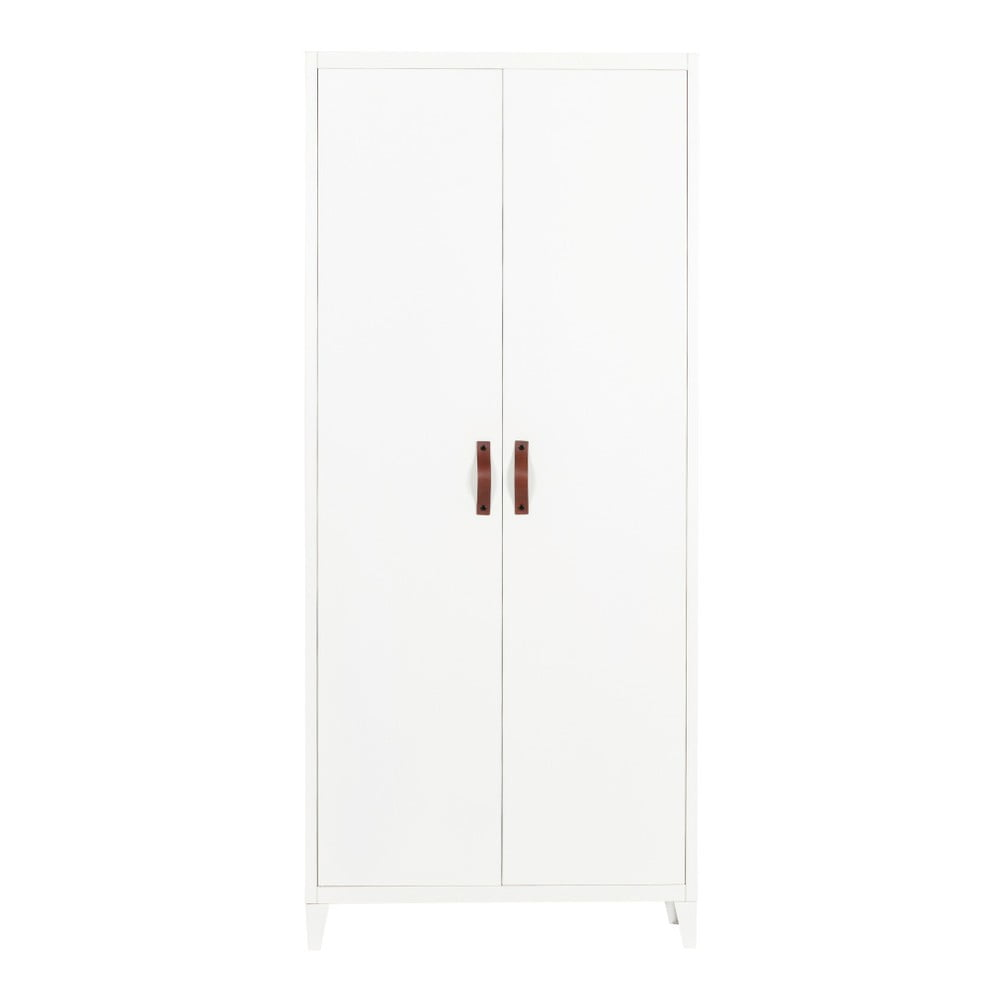 Bílá šatní skříň WOOOD Brock, šířka 84cm