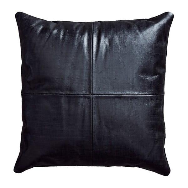 Pernă din piele Fuhrhome Athens, 45 x 45 cm, negru