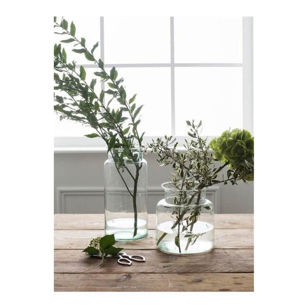 Váza z ručně foukaného recyklovaného skla Garden Trading Broadwell, výška19cm