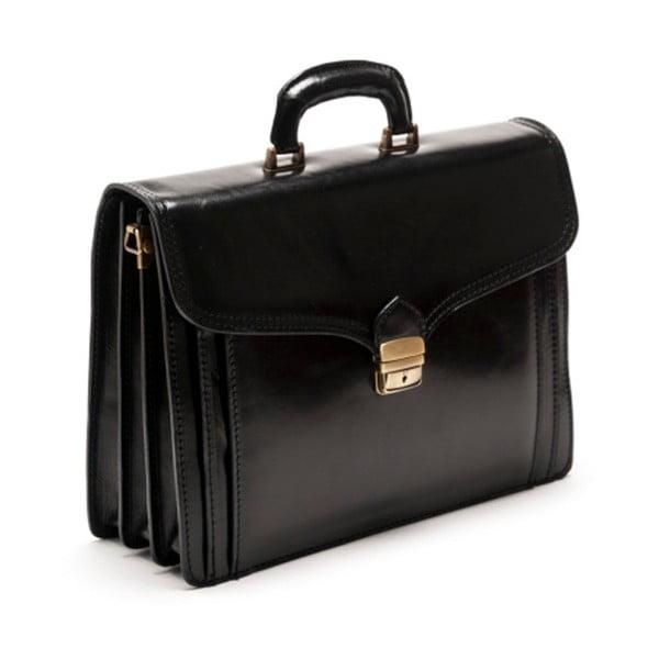 Černá kožená kabelka Isabella Rhea no. 361