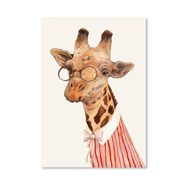 Plakát Ms Giraffe, 30x42 cm