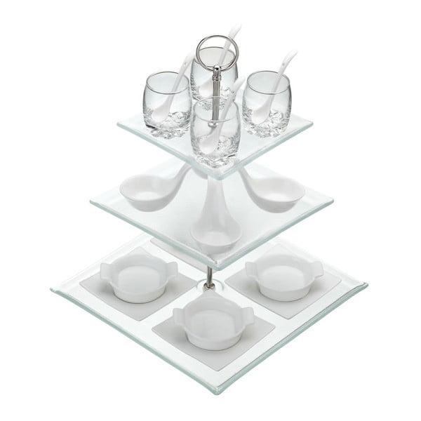Stojan Apetit s miskami a skleničkami