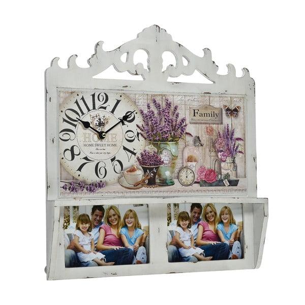 Nástěnné hodiny s fotorámečky Floral