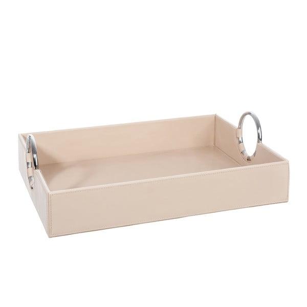 Krémový úložný box s kovovými očky J-Line