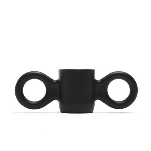 Hrnek Domoor se dvěma uchy, černý
