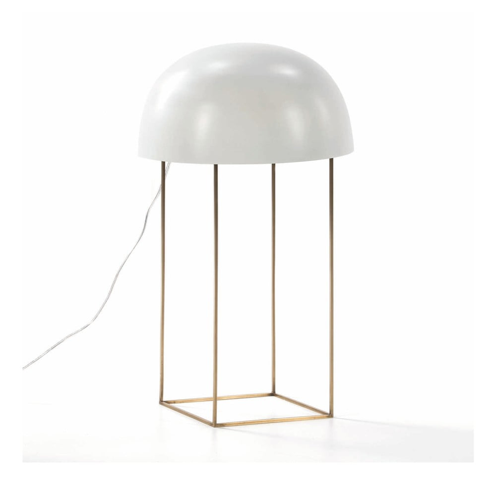 Bílá stolní lampa z kovu Thai Natura Watergate