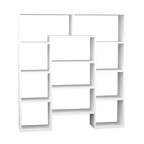 Knihovna Passage 135x123 cm, bílá