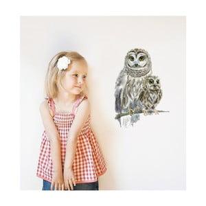 Nástěnná znovu snímatelná samolepka Chocovenyl Owls