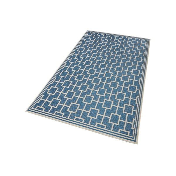 Koberec vhodný i na ven Botany 115x165 cm, modrý
