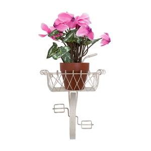 Nástěnný stojan na květiny Da Muro, krémový