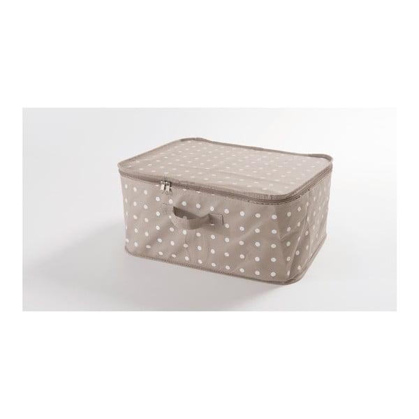 Malý béžový box na uložení oblečení Compactor Dots