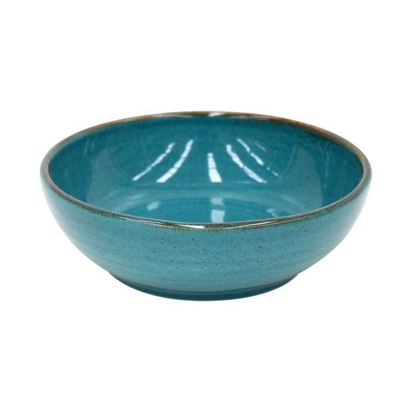 Modrý hluboký talíř z kameniny Casafina Sardegna,⌀19cm
