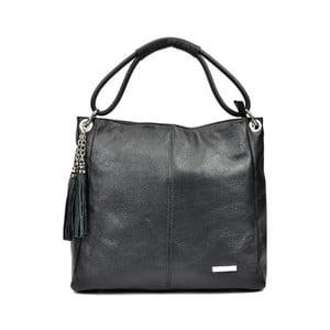 Černá kožená kabelka Anna Luchini Magdana